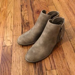 American eagle suede booties - side zip.
